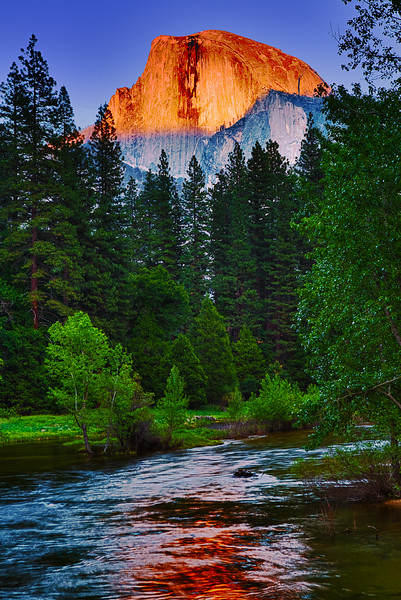 California, Yosemite National Park, Half Dome, Sunset, 加利福尼亚 优胜美地国家公园, 日落