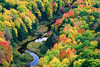 Michigan, Upper Peninsula, Porcupine Mountains, Fall Colors, Foliage Landscape    