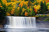 Michigan, Upper Peninsula, Tahquamenon Fall, Foliage Landscape    