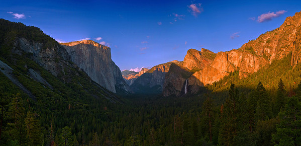 Panorama (10536x5089 merged x4), California, Yosemite National Park, Valey View, Sunset, 加利福尼亚 优胜美地国家公园, 日落, 全景摄影