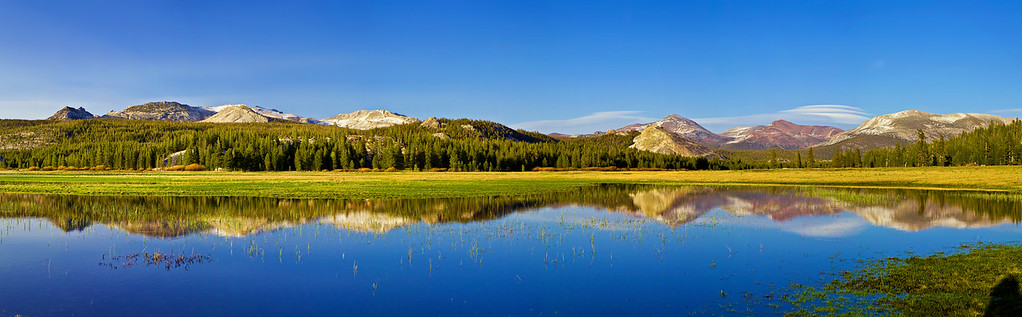 Panorama (17486x5416 merged x6), California, Eastern Sierra, Tuolumne Meadows, 加利福尼亚 优胜美地国家公园,  全景摄影