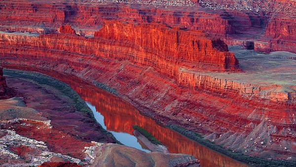 Utah, Dead Horse Point, Sunrise, Canyon. Red Rocks, Dawn, Landscape,  犹他,  死马角,黎明