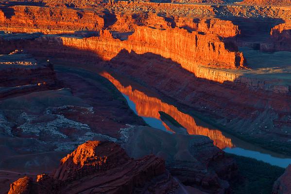 tah, Dead Horse Point, Sunrise, Canyon. Red Rocks, Sunrise, Landscape,  犹他,  死马角, 日出