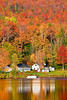 Vermont, Stowe, Lake Elmore, Foliage, Fall Colors, Landscape, ,  