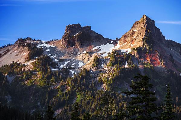 Washington, Mount Rainier,  National Park,  Sunrise, 华盛顿州,国家公园